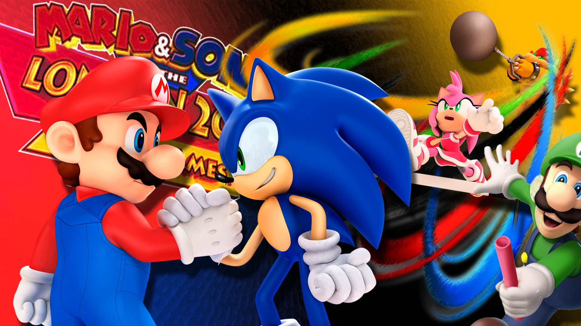 Mario Sonic At The London 2012 Olympic Games Hd Wallpaper