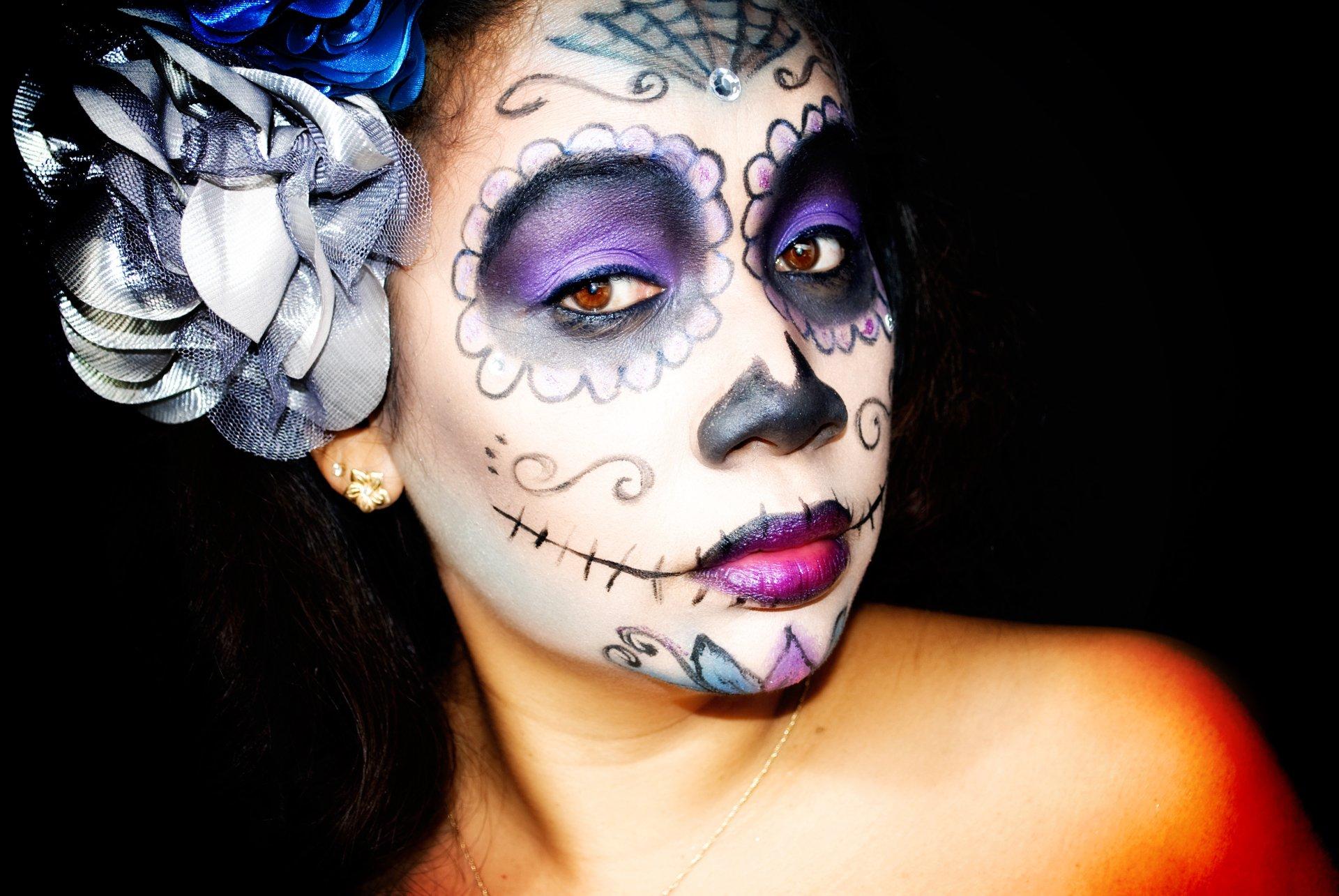 sugar skull makeup wallpaper - photo #14