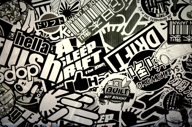 Man Made - Sticker Bomb Sticker Wallpaper