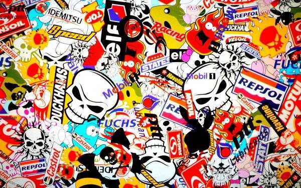 Man Made Sticker Bomb Sticker HD Wallpaper | Background Image