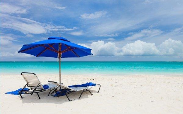 Photography Holiday Man Made Umbrella Chair Beach Ocean Horizon Cloud HD Wallpaper   Background Image