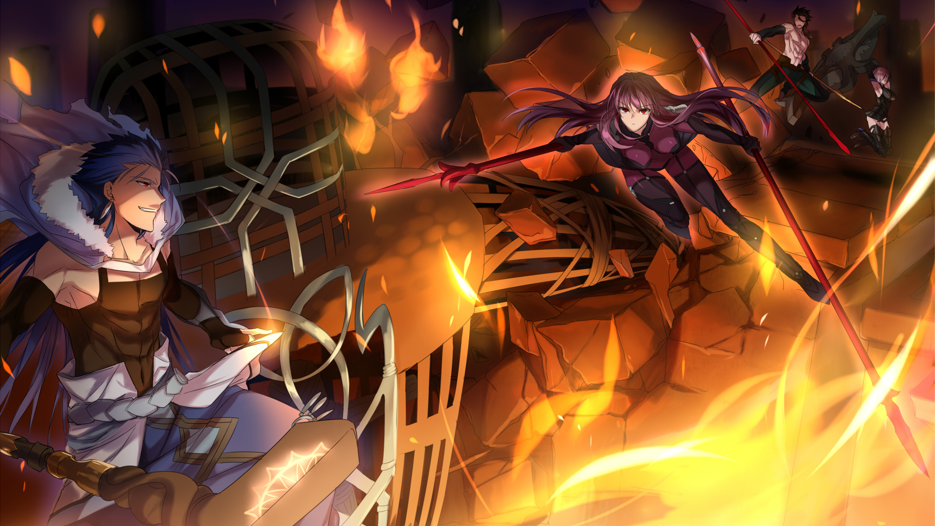 Fate grand order hd wallpaper background image 1920x1080 id 693362 wallpaper abyss - Fate grand order lancer wallpaper ...
