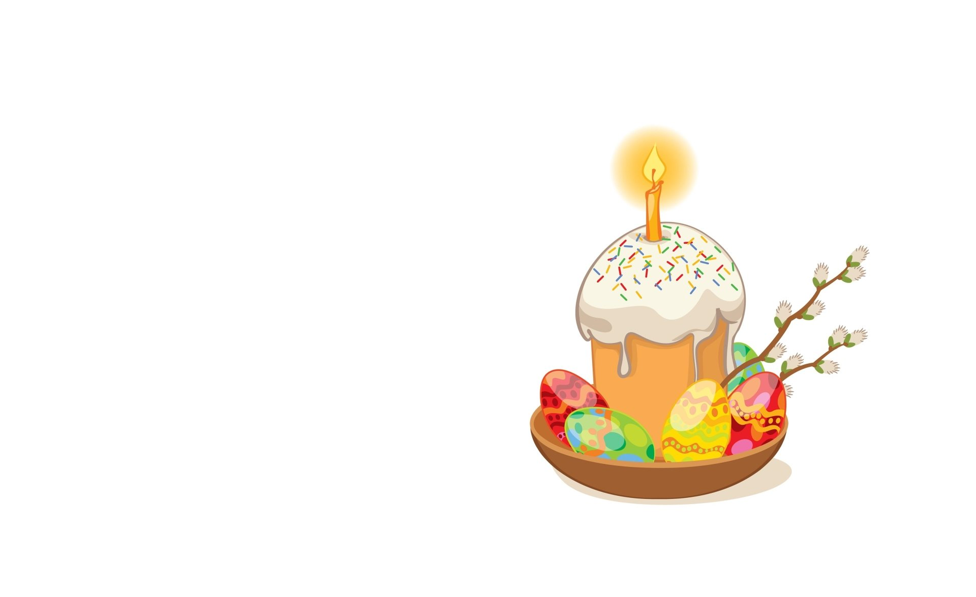 Holiday - Birthday  Cake Candle Minimalist Easter Egg Wallpaper