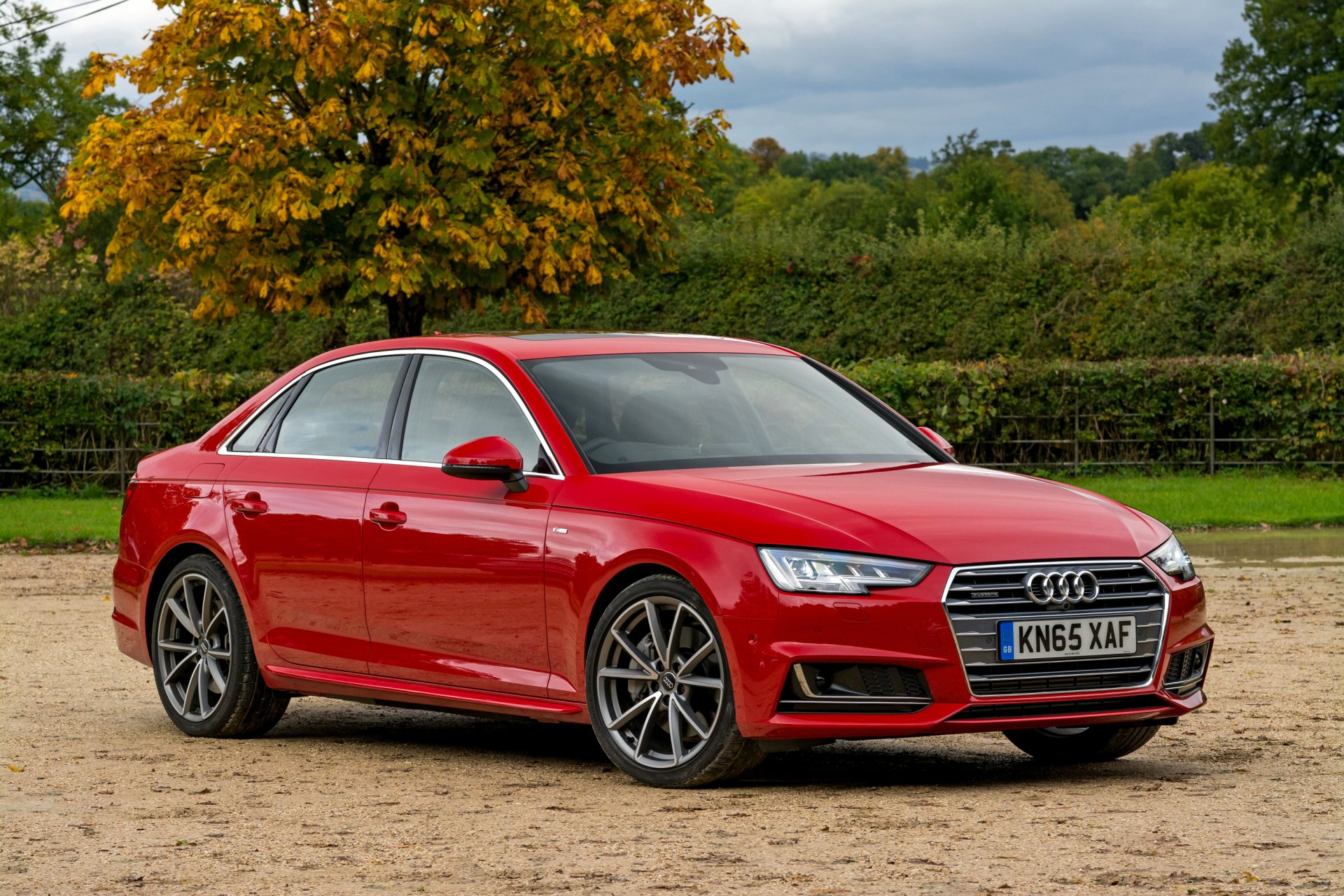 Vehicles - Audi A4  Audi Red Car Car Vehicle Wallpaper