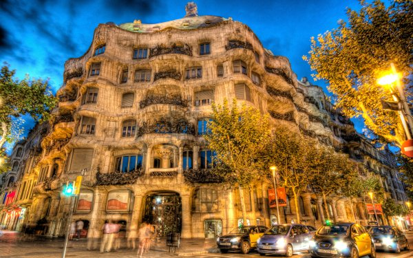 Photography HDR Barcelona Building Architecture Cityscape City Street HD Wallpaper   Background Image