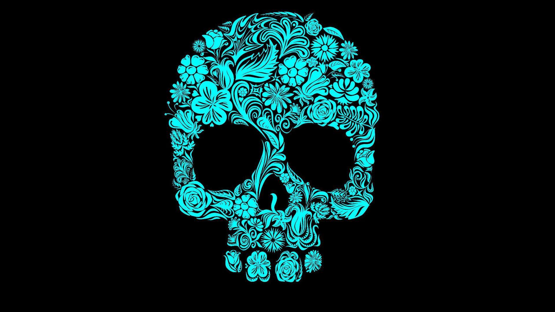 Flower Skull HD Wallpaper
