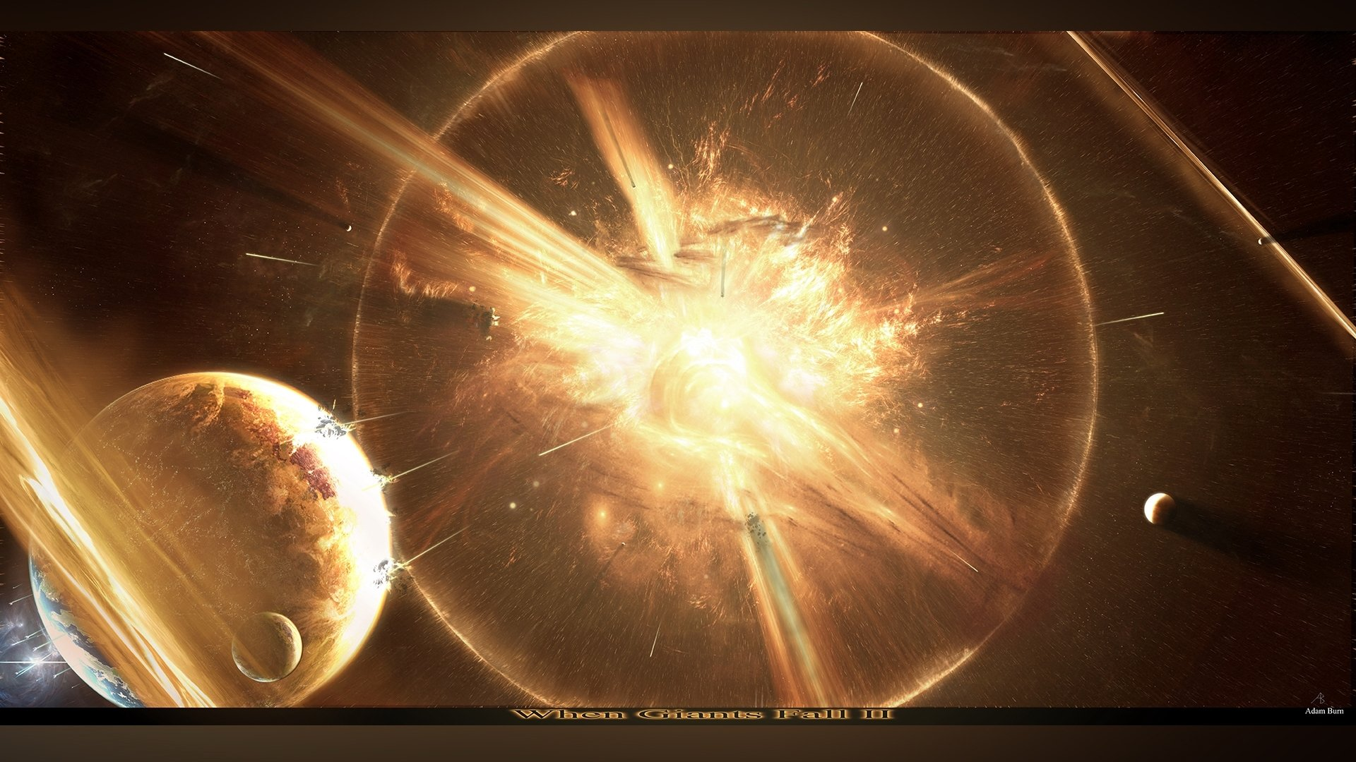 Science-Fiction - Explosion  Wallpaper
