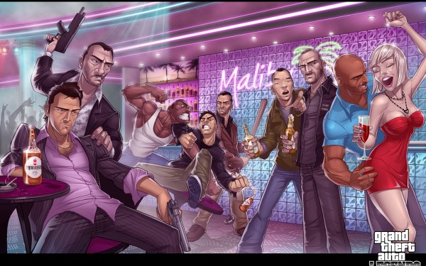 Video Game Grand Theft Auto Tommy Vercetti Niko Bellic Carl Johnson Claude Speed Toni Cipriani Huang Lee Johnny Klebitz Victor Vance HD Wallpaper | Background Image