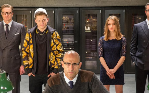 Movie Kingsman: The Secret Service Colin Firth Taron Egerton Mark Strong Sophie Cookson HD Wallpaper | Background Image