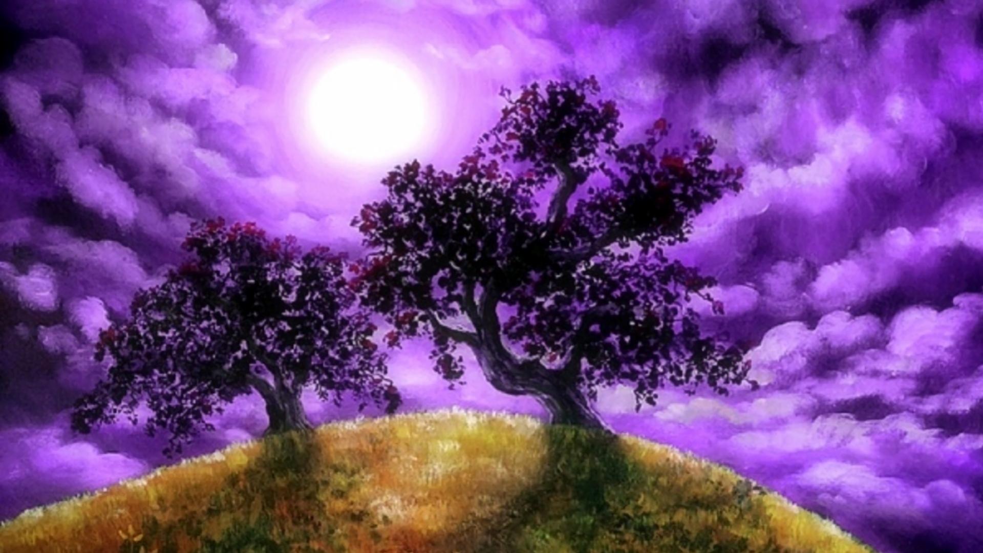 Fantasy landscape full hd sfondo and sfondi 1920x1080 for Sfondi hd viola