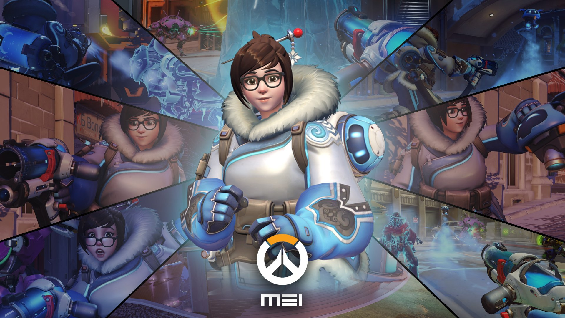 电子游戏 - 守望先锋  Mei (Overwatch) 壁纸