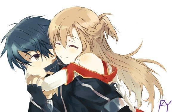 Anime Sword Art Online Kazuto Kirigaya Asuna Yuuki HD Wallpaper | Background Image
