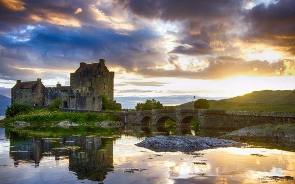 Man Made Eilean Donan Castle Castles United Kingdom HD Wallpaper | Background Image