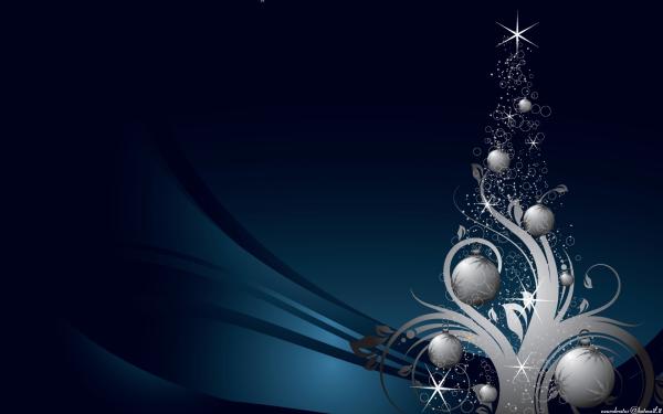 Holiday Christmas Christmas Tree Silver HD Wallpaper | Background Image