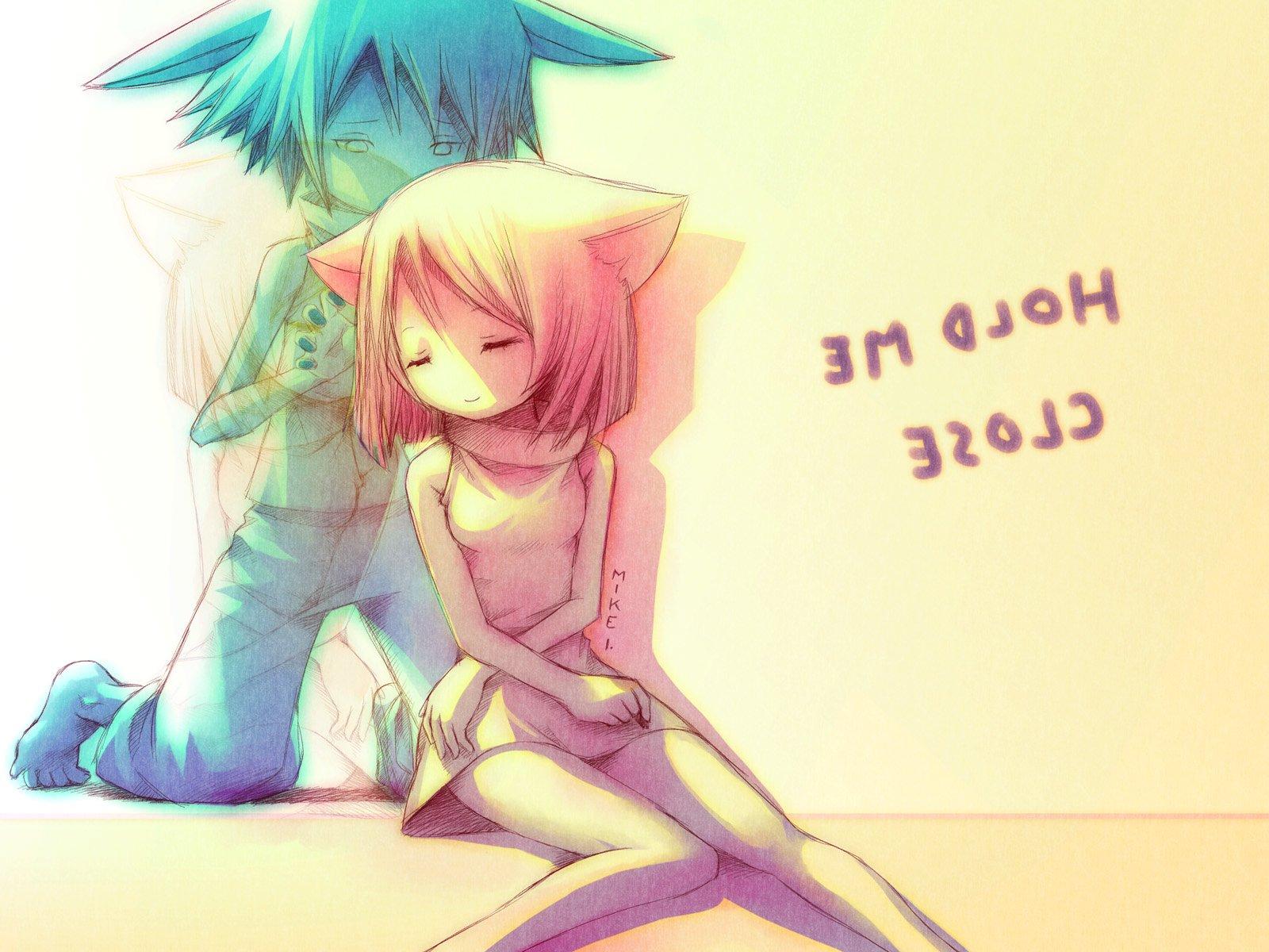 Фото девушка и парень аниме