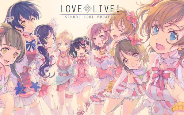 Anime Love Live! Eri Ayase Rin Hoshizora Hanayo Koizumi Honoka Kousaka Kotori Minami Maki Nishikino Umi Sonoda Nozomi Tojo Nico Yazawa Fond d'écran HD | Arrière-Plan