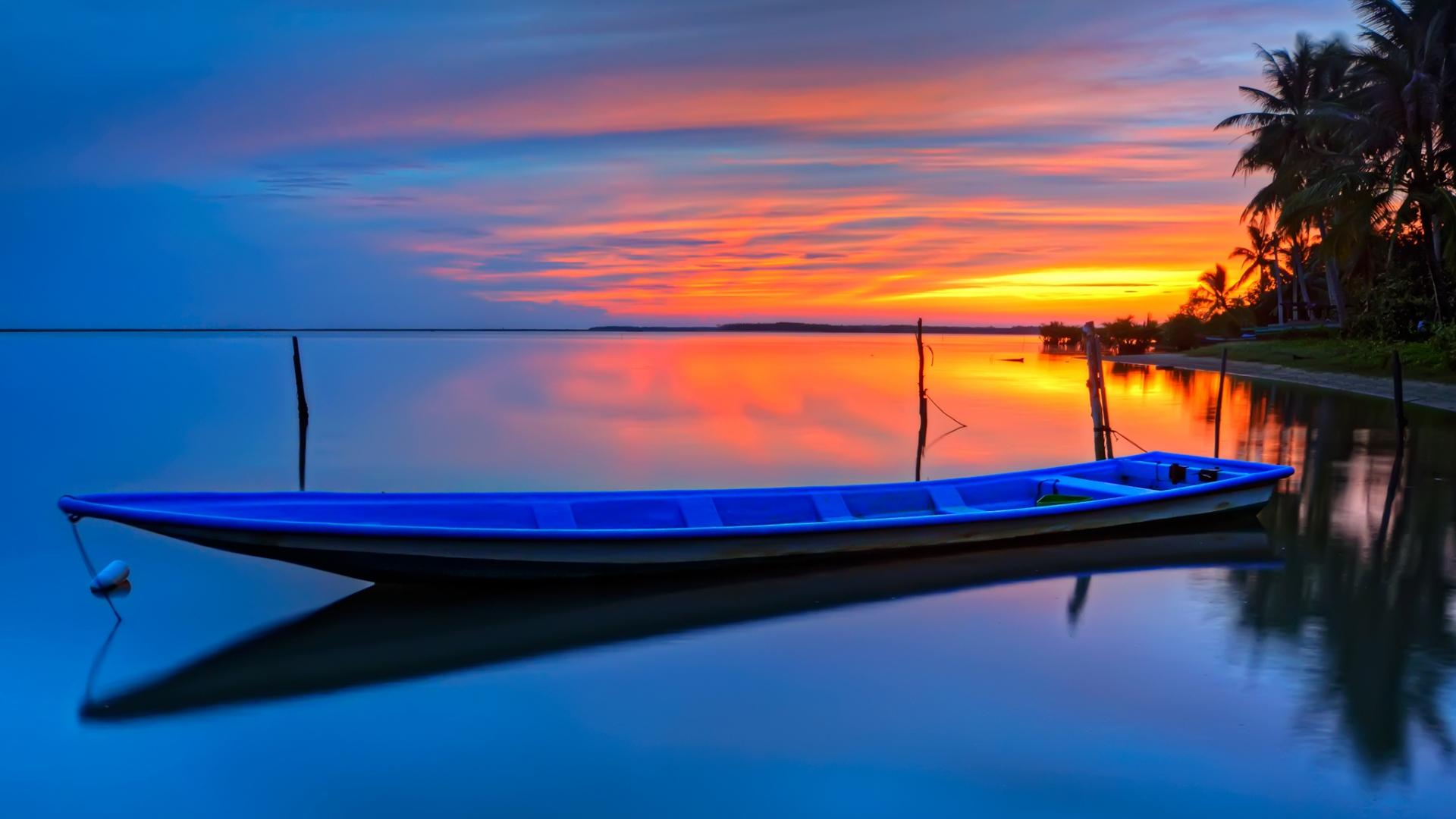 Boat At Sunset Fondo De Pantalla Hd Fondo De Escritorio