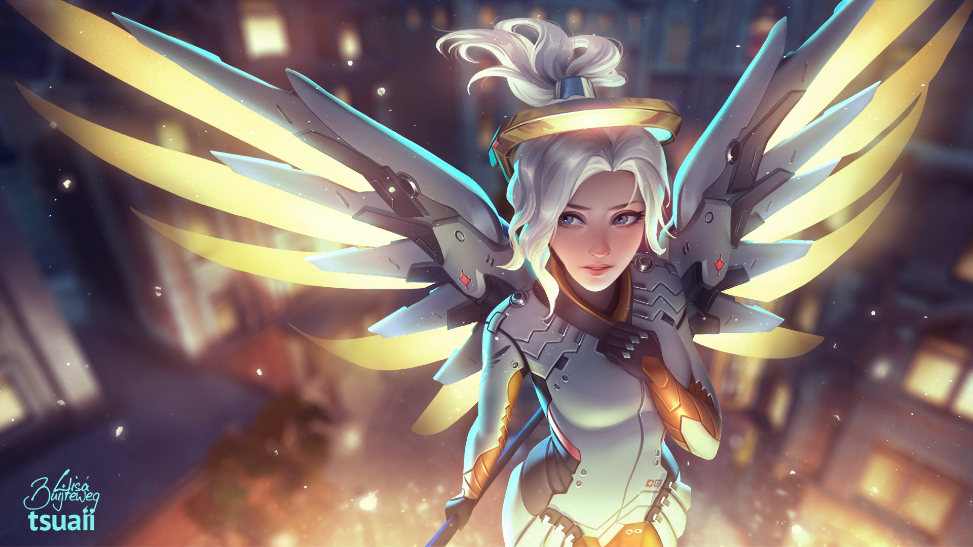 Overwatch: Beautiful Wallpapers for Mercy, Genji and Pharah - 2P ...