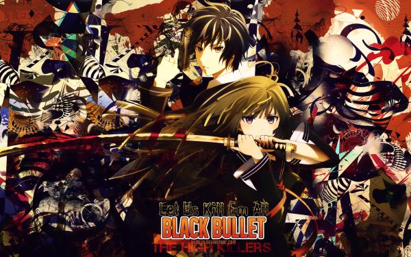 Anime Black Bullet Rentaro Satomi Kisara Tendo HD Wallpaper | Background Image
