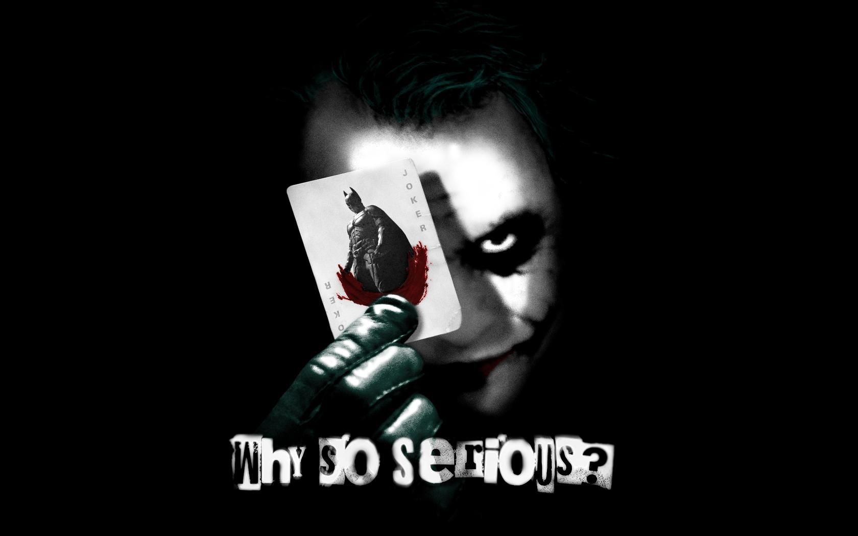 Why So Serious ?? Joker Wallpaper And Background Image