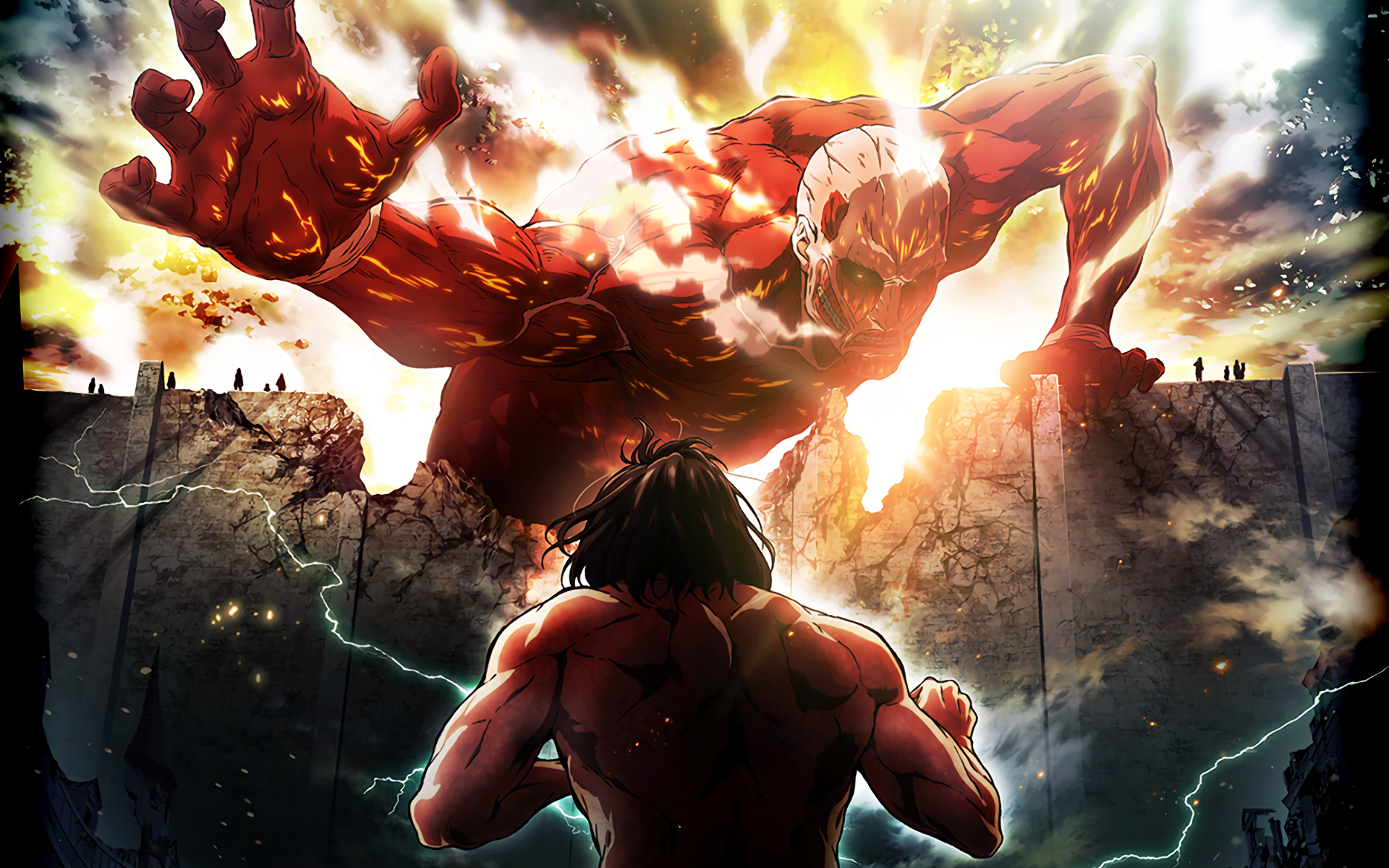 Attack on titan full hd wallpaper and background image 1920x1200 anime attack on titan shingeki no kyojin eren yeager wallpaper voltagebd Choice Image