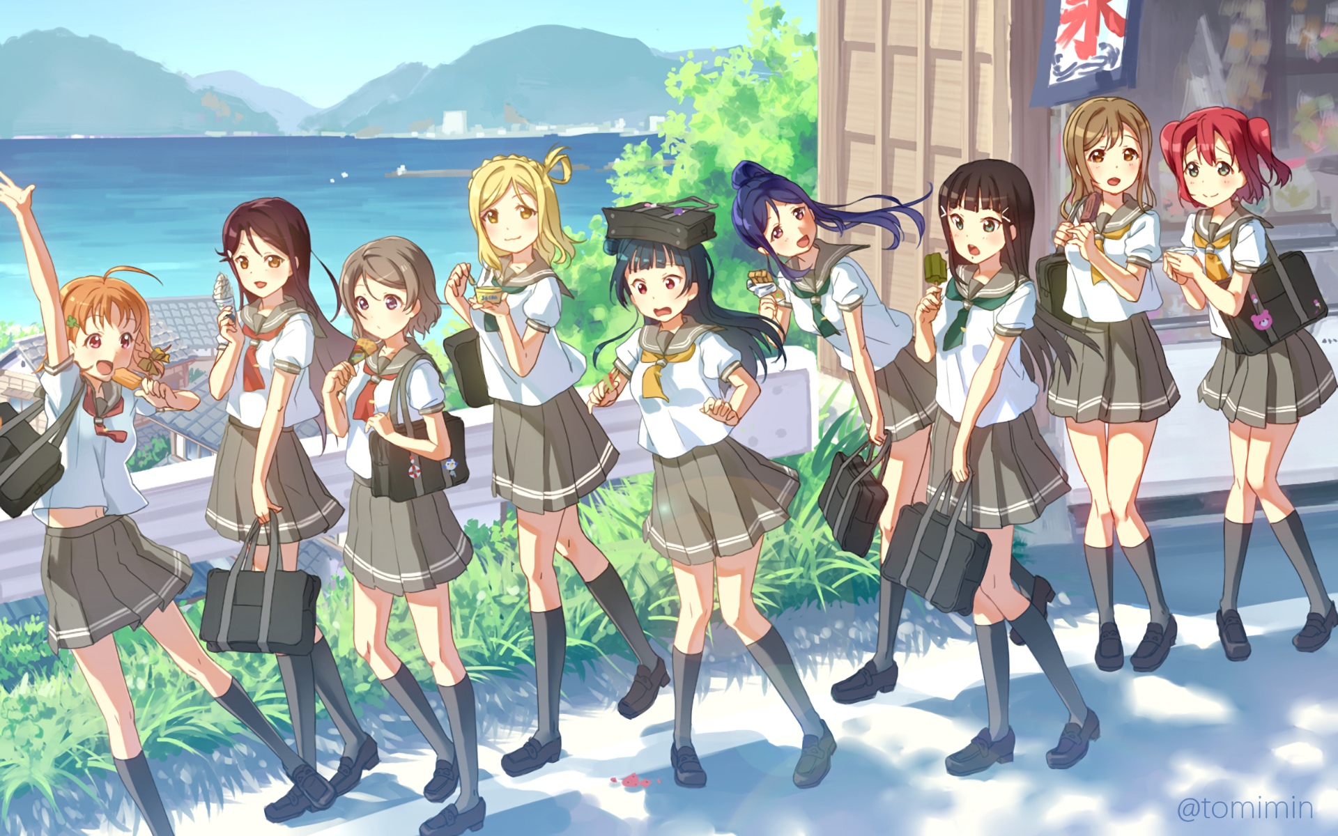 Resultado de imagen de wallpapers anime love live sunshine