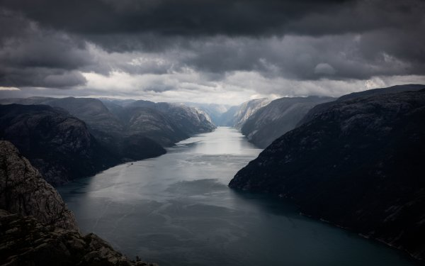 Earth Fjord Lysefjord Norway Rock Cloud Mountain HD Wallpaper | Background Image
