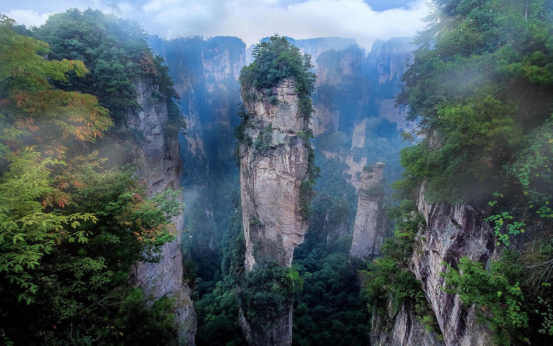 zhangjiajie national park in china hd wallpaper | background image