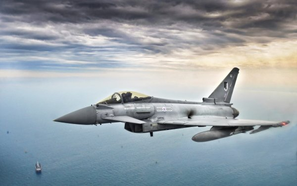 Military Eurofighter Typhoon Jet Fighters Jet Fighter Aircraft Warplane HD Wallpaper | Background Image