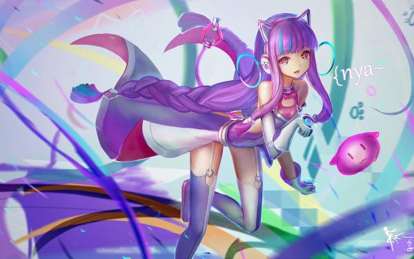 Video Game 300 Heroes Headphones Cat Girl HD Wallpaper | Background Image