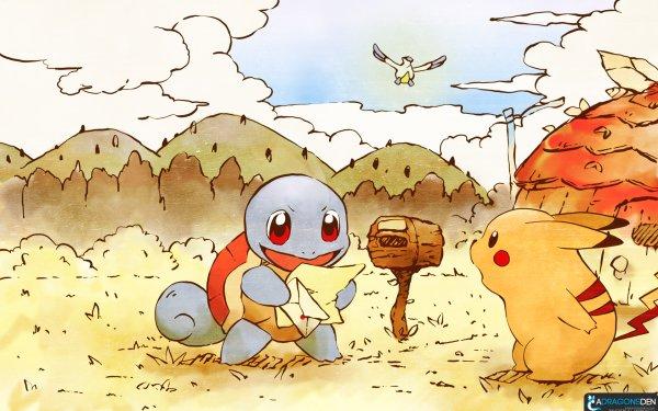Jeux Vidéo Pokémon Mystery Dungeon: Red Rescue Team Pokémon Squirtle Pikachu Latias Fond d'écran HD | Arrière-Plan