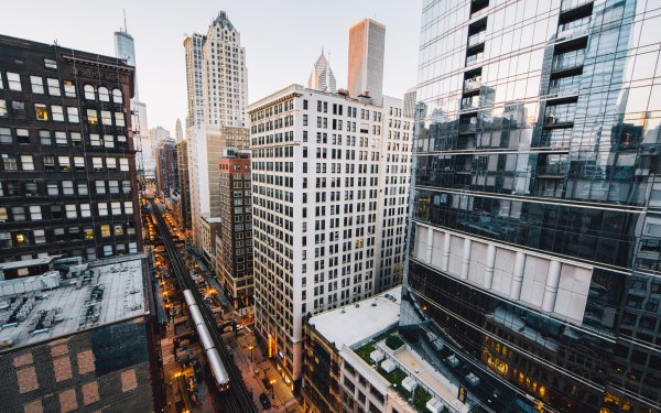 Man Made Chicago Cities United States USA City Building Skyscraper Tram HD Wallpaper | Background Image