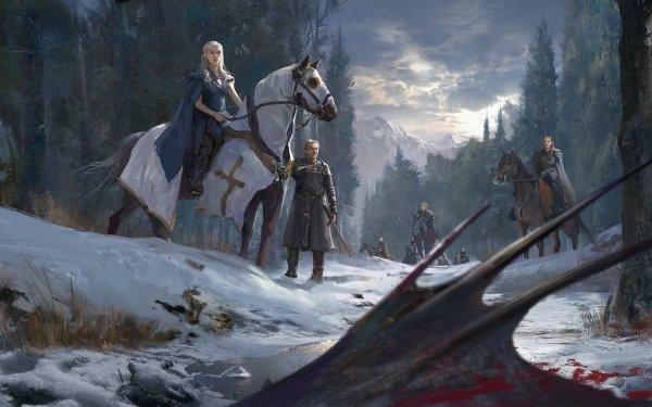 TV Show Game Of Thrones Daenerys Targaryen Sansa Stark Dragon Tyrion Lannister HD Wallpaper | Background Image