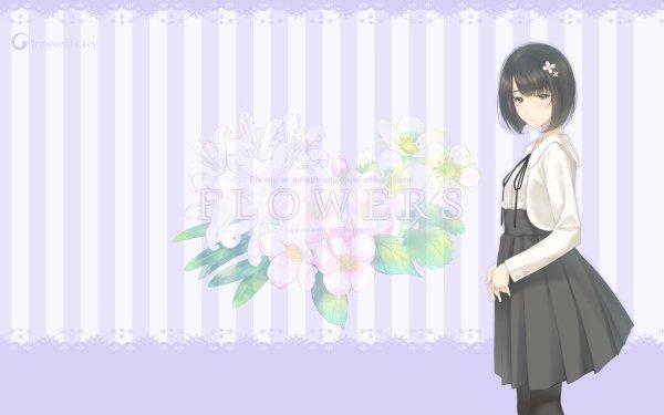 Anime Flowers Ringo Sasaki HD Wallpaper   Background Image