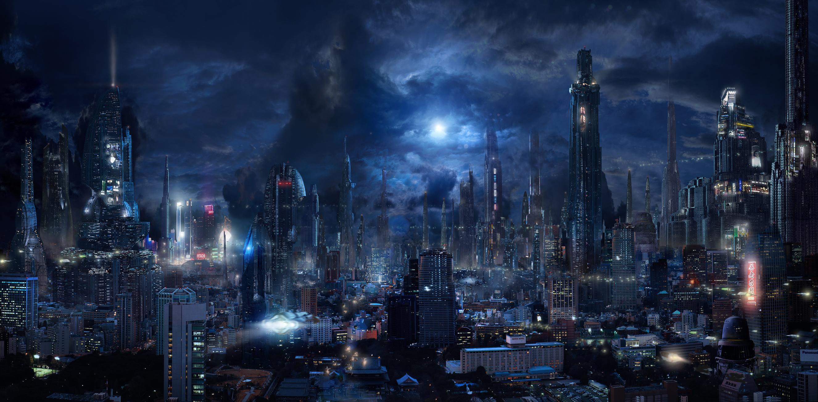 Futuristic City Wallpaper Hd: City HD Wallpaper