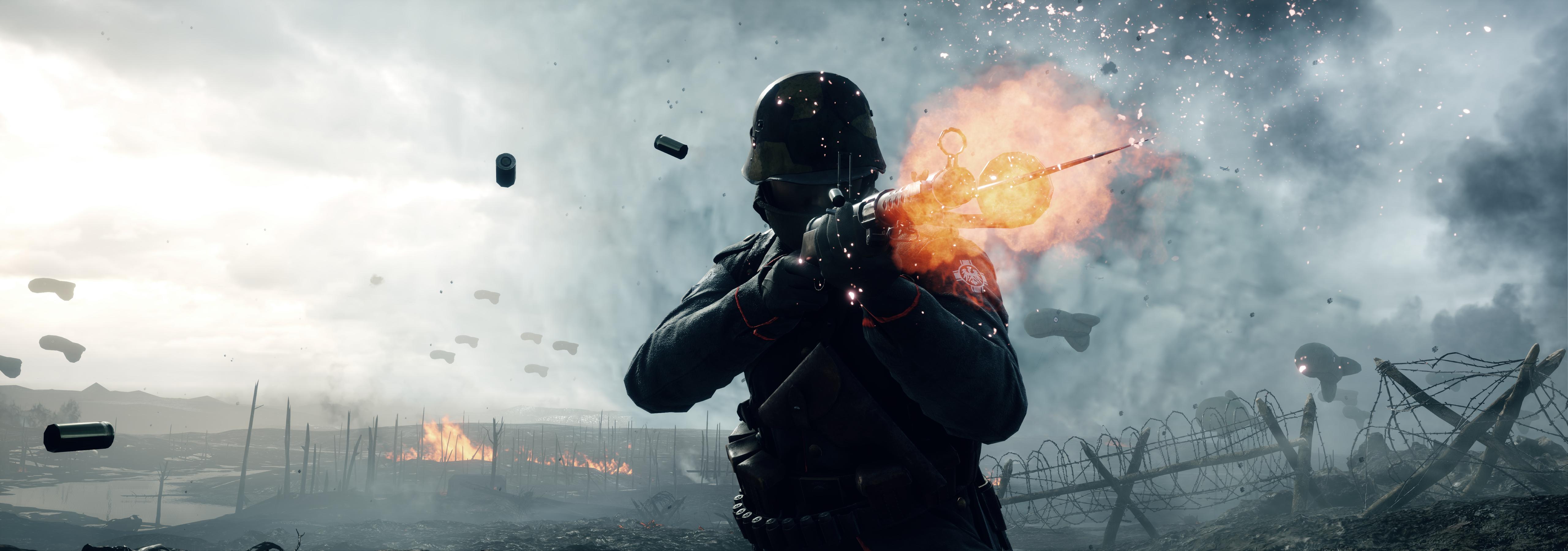 Cool Battlefield 4 Fire Armor In Black Background: Battlefield 1 HD Wallpaper