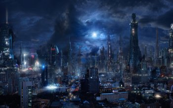 56 Futuristic City HD Wallpapers | Background Images - Wallpaper Abyss