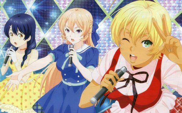 Anime Food Wars: Shokugeki no Soma Erina Nakiri Megumi Tadokoro Ikumi Mito HD Wallpaper | Background Image