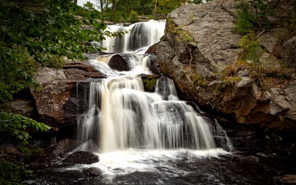 Earth Waterfall Waterfalls Nature Water Rock USA Connecticut HD Wallpaper | Background Image