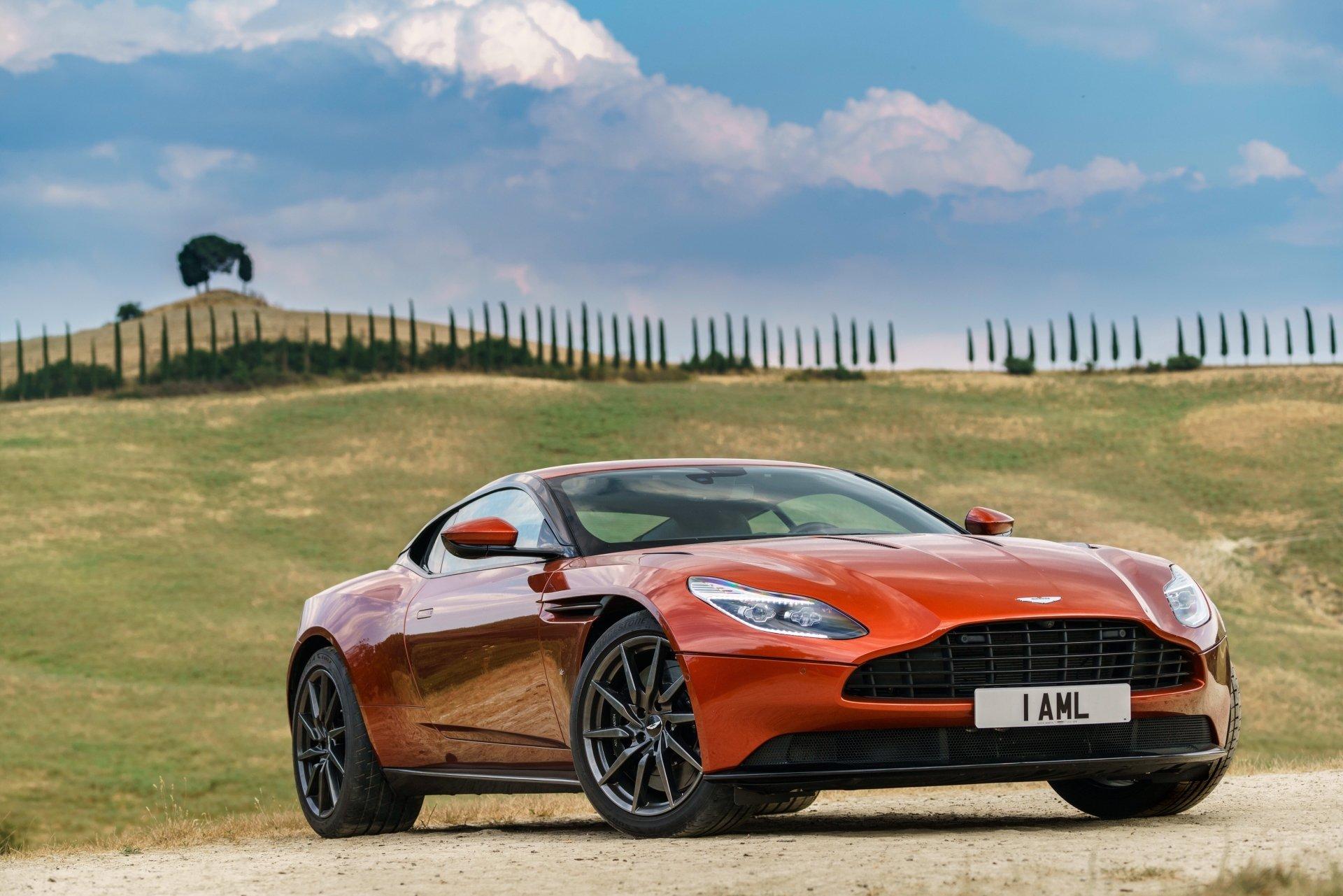 Vehicles - Aston Martin DB11  Aston Martin Car Vehicle Grand Tourer Orange Car Wallpaper