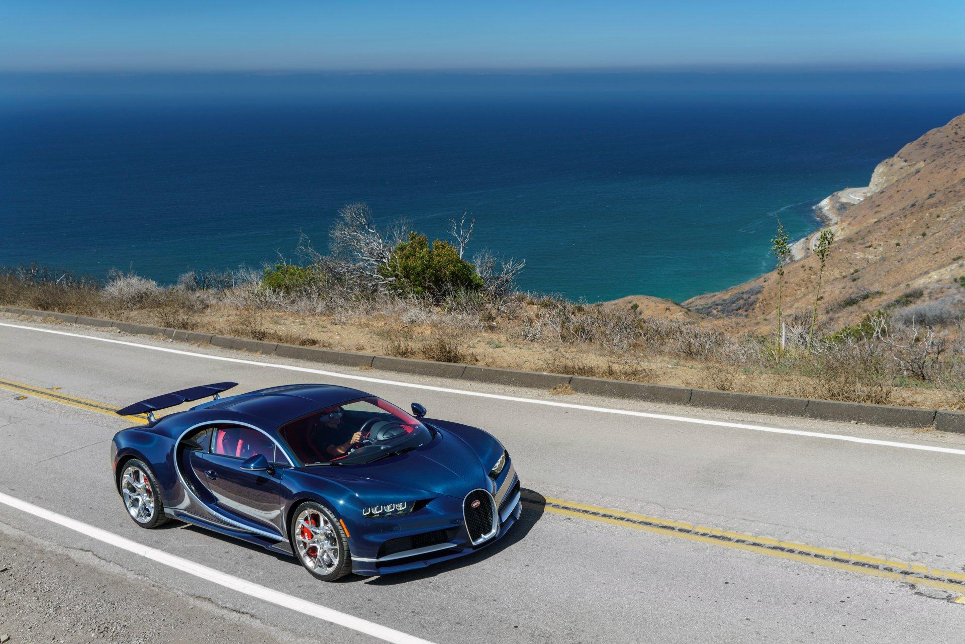 Vehicles - Bugatti Chiron  Bugatti Blue Car Car Vehicle Supercar Sport Car Wallpaper