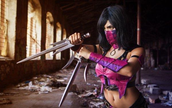 Women Cosplay Mortal Kombat Mileena HD Wallpaper   Background Image