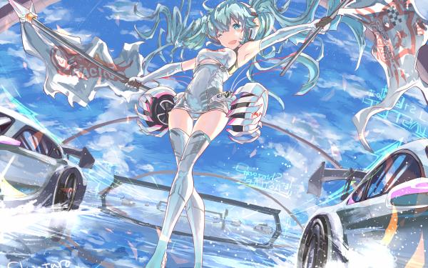 Anime Vocaloid Hatsune Miku HD Wallpaper | Background Image