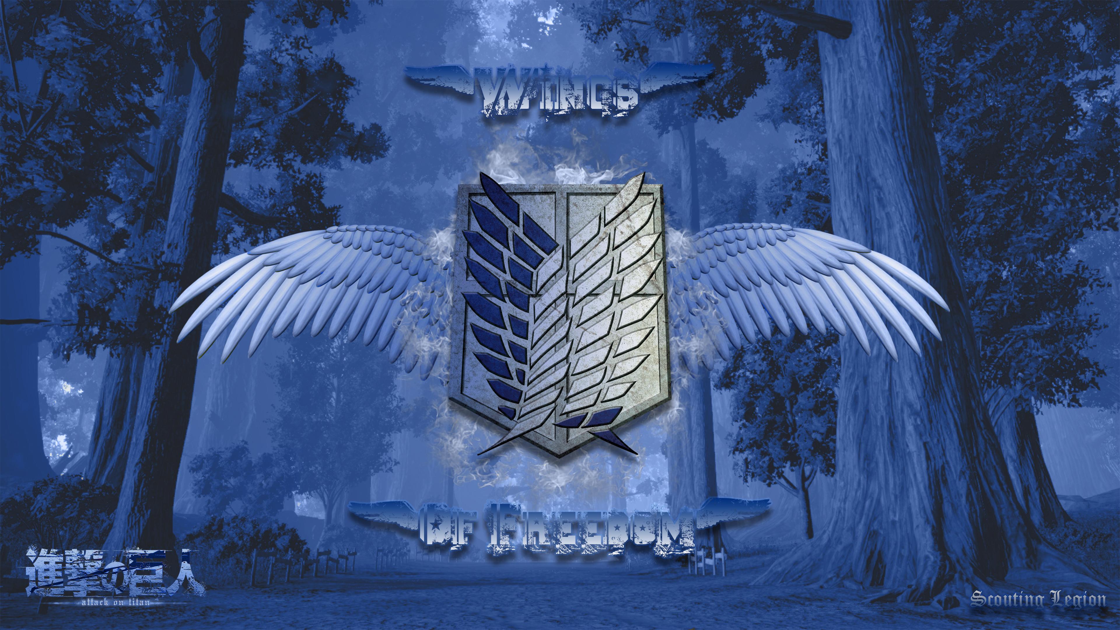 Scouting Legion Wings Of Freedom 4k Ultra Fondo De Pantalla