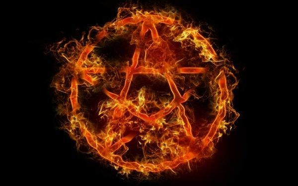 Dark Occult Fire Pentagram HD Wallpaper | Background Image