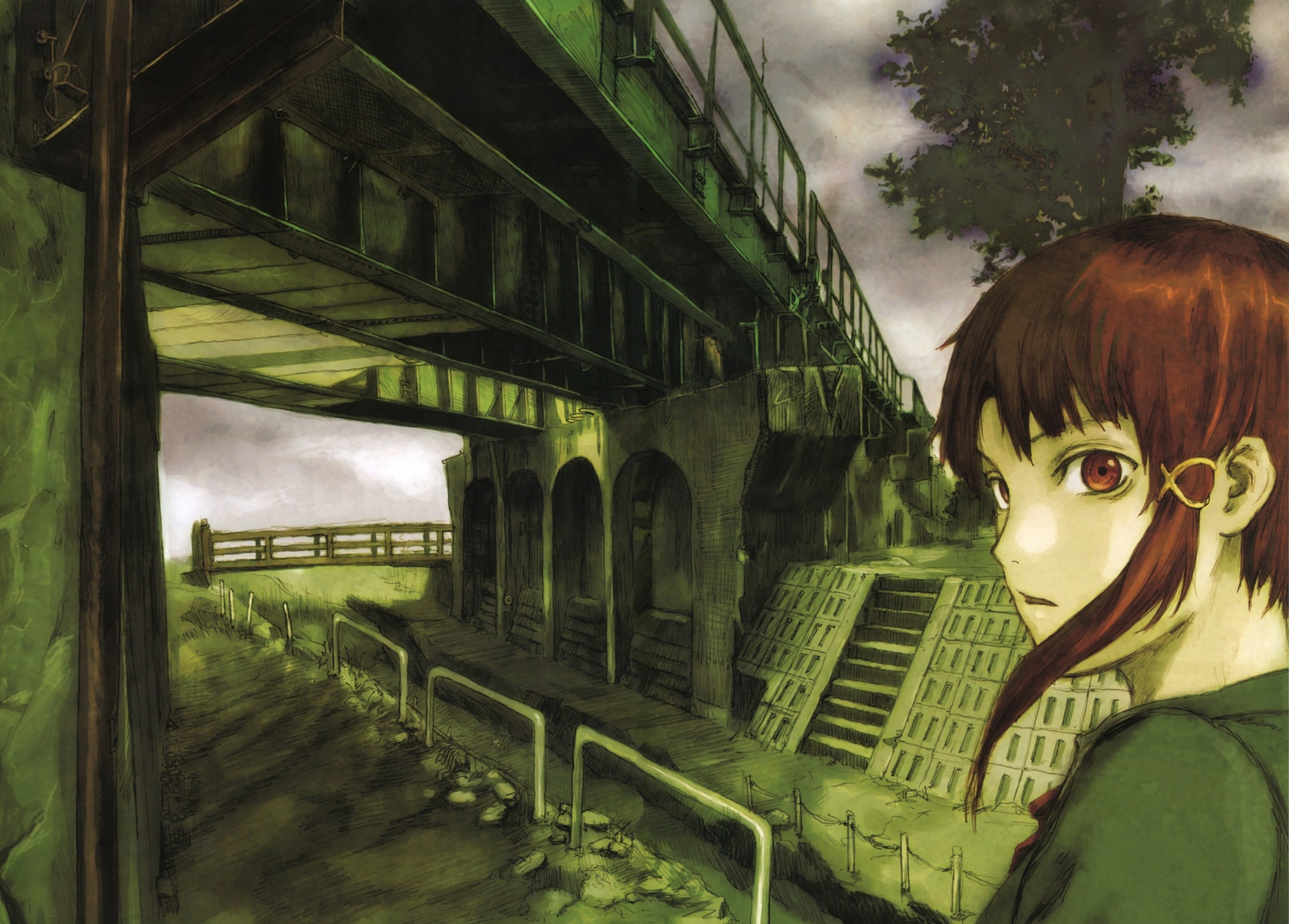 Serial Experiments Lain Full HD Wallpaper and Background