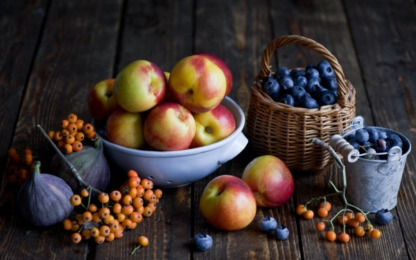 Food Fruit Fruits Blueberry Nectarine HD Wallpaper   Background Image