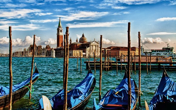 Man Made Venice Cities Italy Canal Boat Gondola City Building HD Wallpaper | Background Image