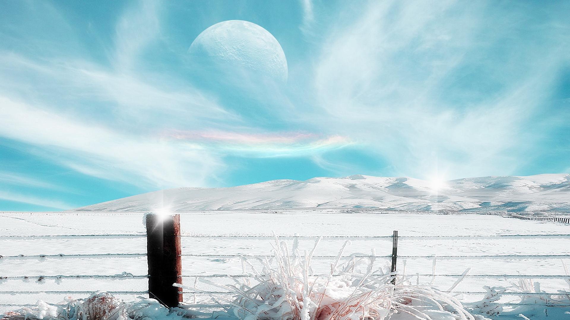 Hd wallpaper editor - Artistic Fantasy Artistic Winter Planet Landscape Snow Sky Wallpaper