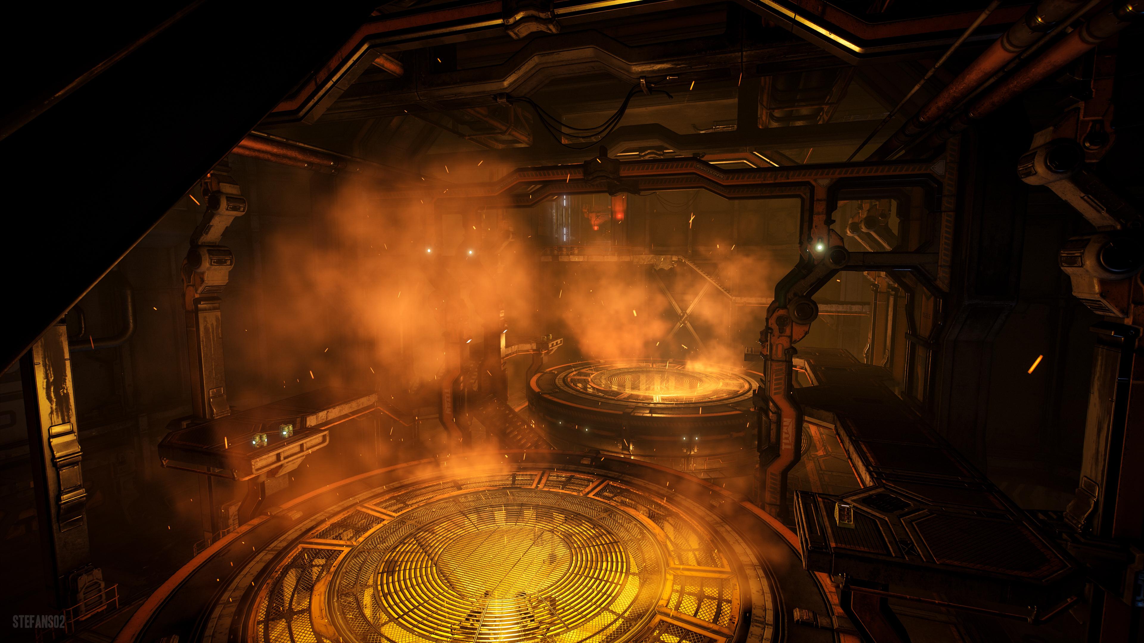 Doom Forge Vents 4k Ultra Hd Wallpaper Background